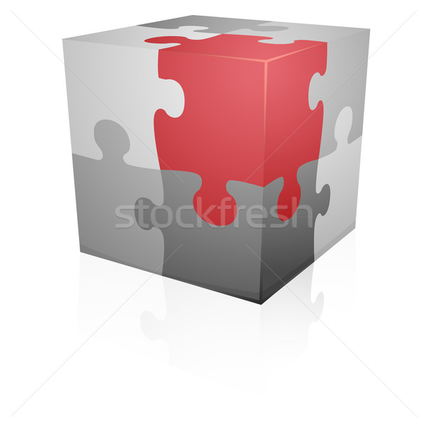 puzzle_wuerfel_II Stock photo © unkreatives