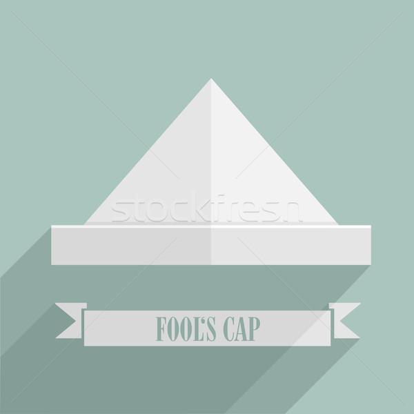 Boné detalhado retro estilo ilustração bandeira Foto stock © unkreatives