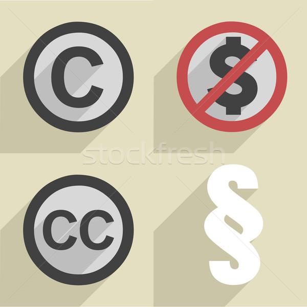 Estilo derechos de autor establecer ilustración diferente Foto stock © unkreatives