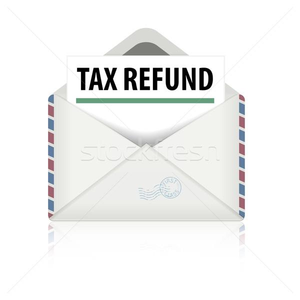 Adó viszzafizetés levél részletes illusztráció nyitva Stock fotó © unkreatives