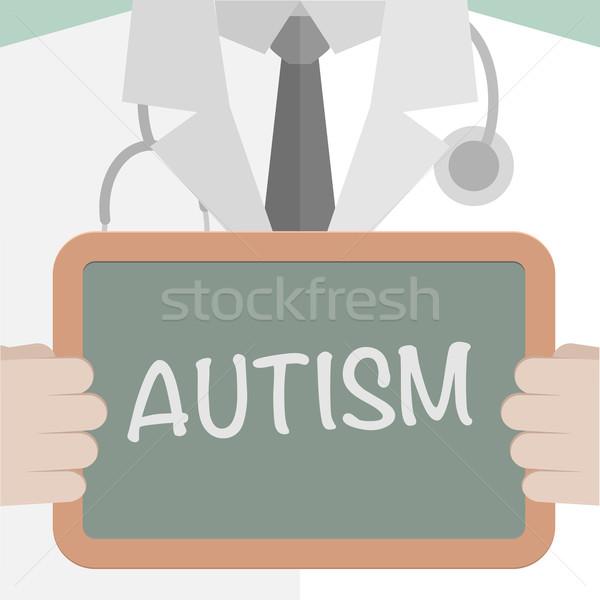 Orvosi tábla autizmus minimalista illusztráció orvos Stock fotó © unkreatives