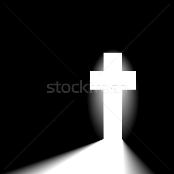 radiant christian cross Stock photo © unkreatives