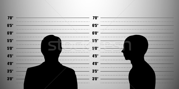 Stock photo: mugshot silhouette