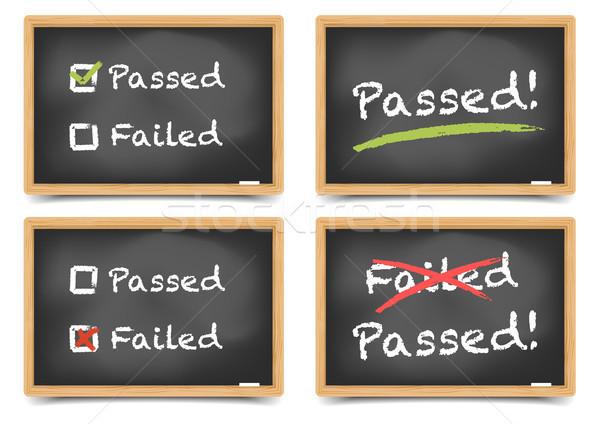Pass Fail Blackboard Stock photo © unkreatives