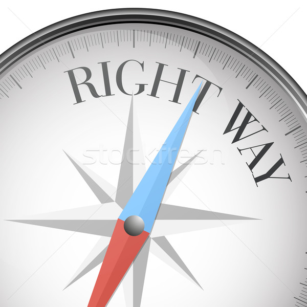 compass right way Stock photo © unkreatives