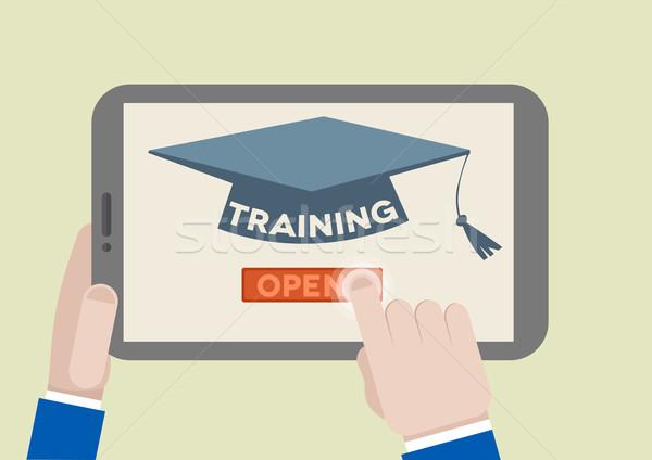 Tablet Training Stock photo © unkreatives