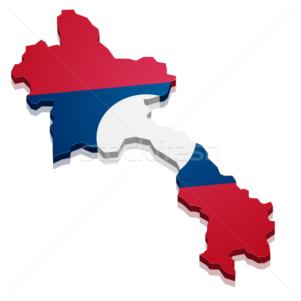 Map Laos Stock photo © unkreatives