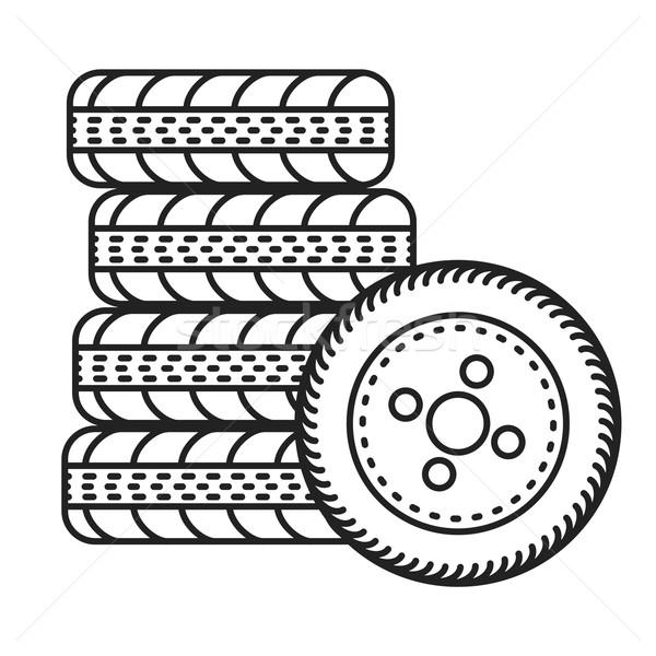 car tires illustration Stock photo © unkreatives