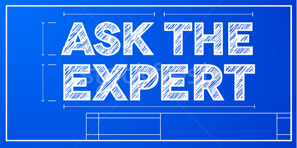 blueprint ask the expert Stock photo © unkreatives