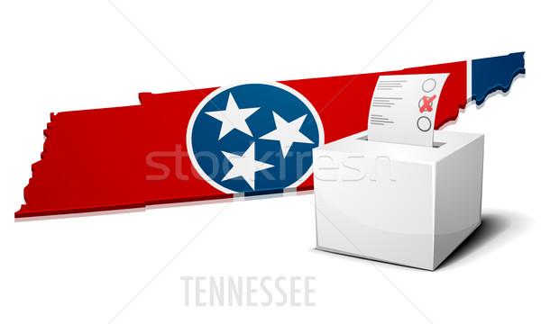 Carte Tennessee détaillée illustration eps10 vecteur Photo stock © unkreatives