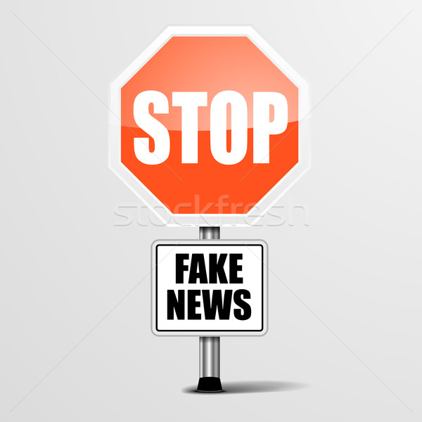 Stop Fake News Stock photo © unkreatives