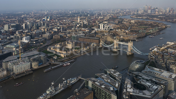 aerial cityscape view of London Stock photo © unkreatives