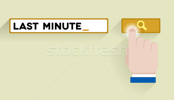 search last minute Stock photo © unkreatives