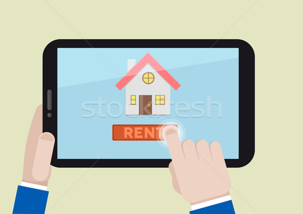 rent a house Stock photo © unkreatives