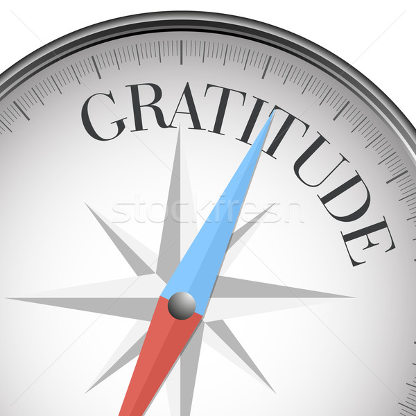 Kompas dankbaarheid gedetailleerd illustratie tekst eps10 Stockfoto © unkreatives