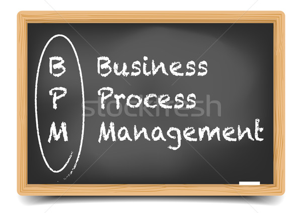 Stock photo: Blackboard BPM