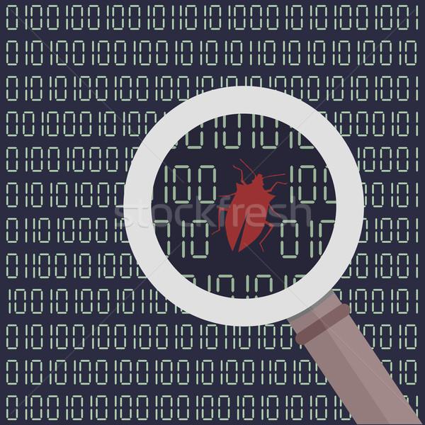 Programozós keres bogarak megállapítás digitális képernyő Stock fotó © unkreatives