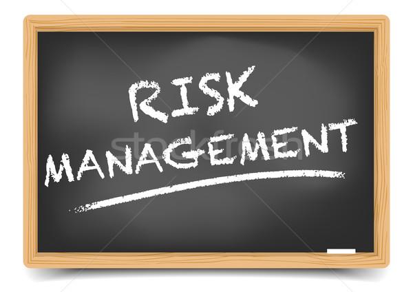 Blackboard Risk Management Stock photo © unkreatives