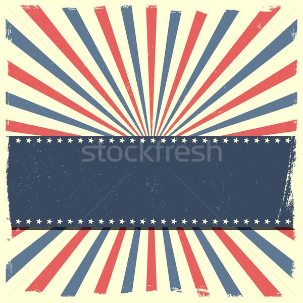 Bandeira patriótico listrado detalhado ilustração eps Foto stock © unkreatives