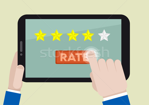 tablet rating four stars Stock photo © unkreatives