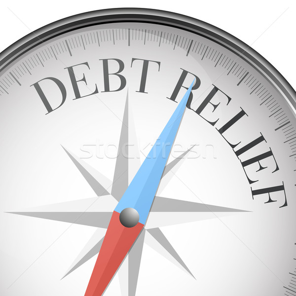 Kompas dług ulga szczegółowy ilustracja tekst Zdjęcia stock © unkreatives