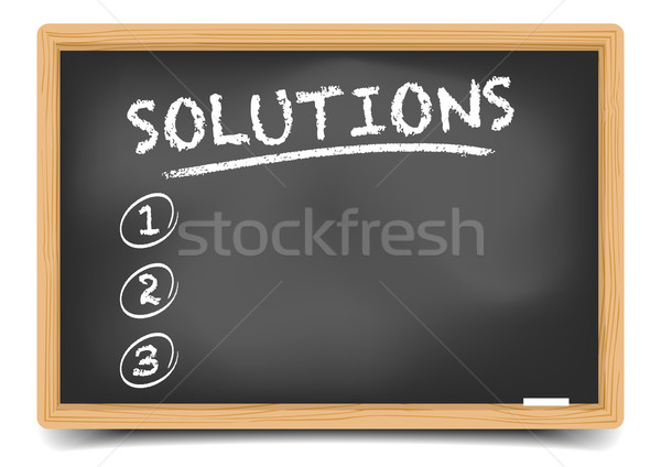 List Solutions Stock photo © unkreatives