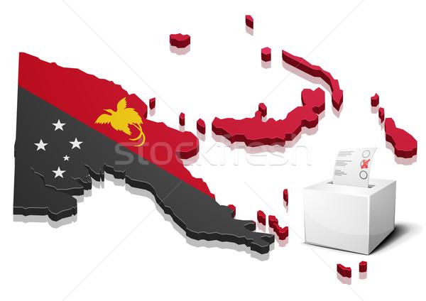 ballotbox Papua New Guinea Stock photo © unkreatives