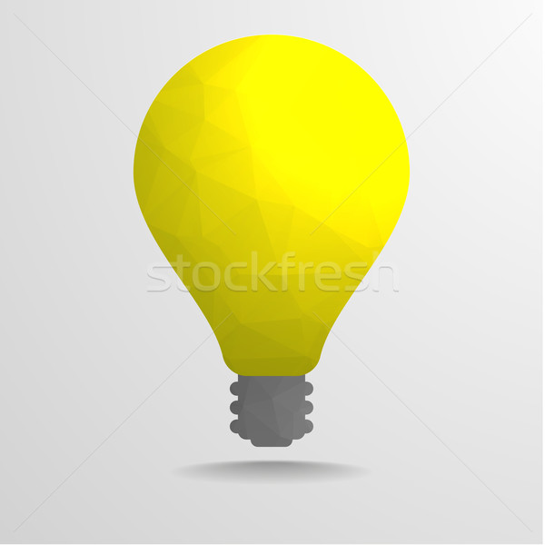 low poly lightbulb Stock photo © unkreatives