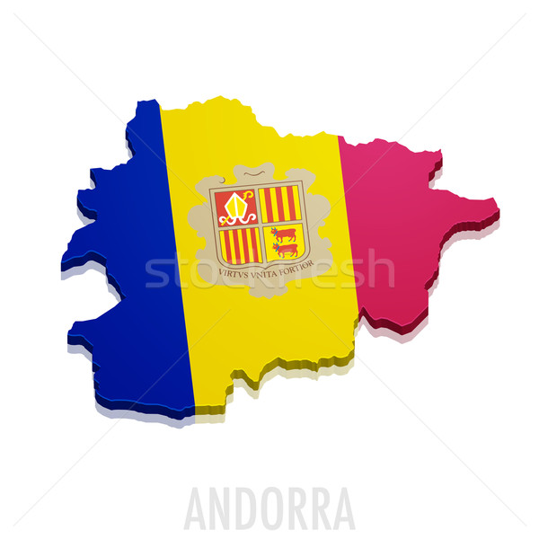 Map of Andorra Stock photo © unkreatives