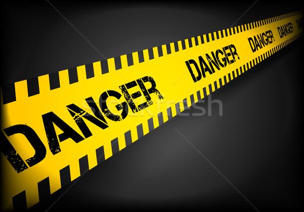 Ostrożność line niebezpieczeństwo szczegółowy ilustracja eps10 Zdjęcia stock © unkreatives