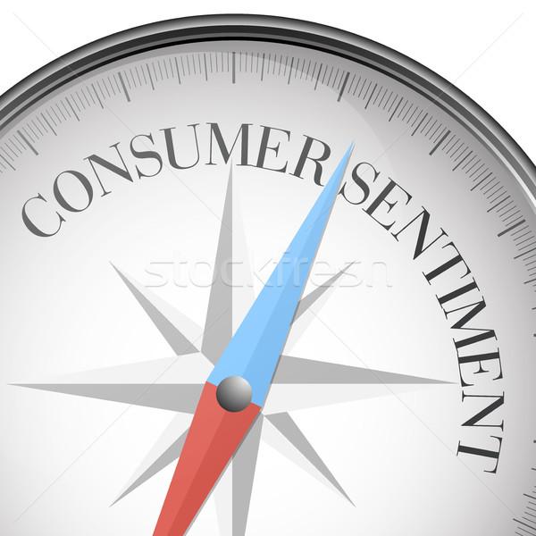 Boussole consommateur sentiment détaillée illustration texte Photo stock © unkreatives
