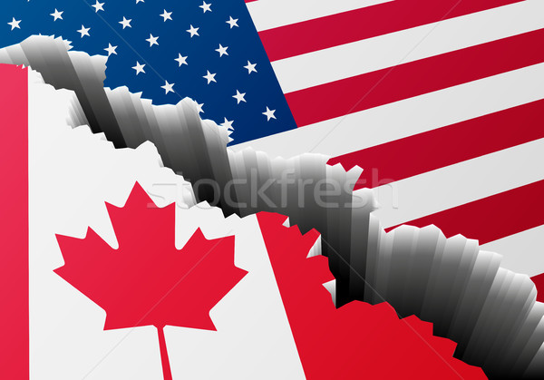 Profonde crack Canada USA détaillée illustration Photo stock © unkreatives