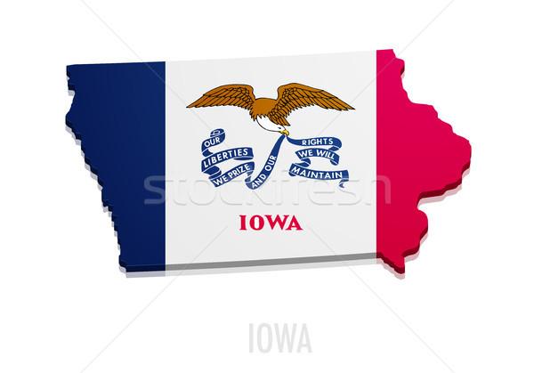 Stok fotoğraf: Harita · ayrıntılı · örnek · bayrak · eps10 · vektör