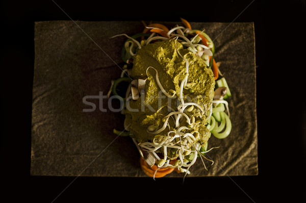 raw food wrap Stock photo © unkreatives
