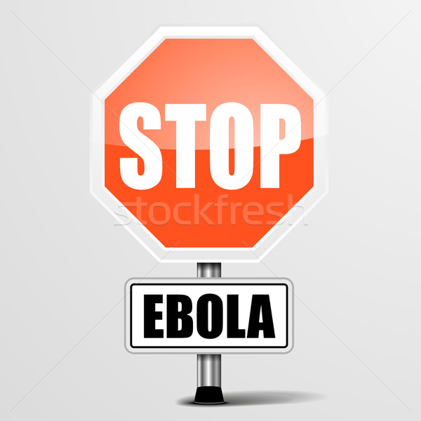 RoadSign Stop Ebola Stock photo © unkreatives