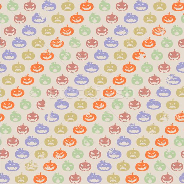 halloween pumpkin pattern Stock photo © unkreatives