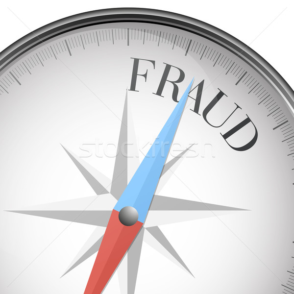 Bússola fraude detalhado ilustração texto eps10 Foto stock © unkreatives