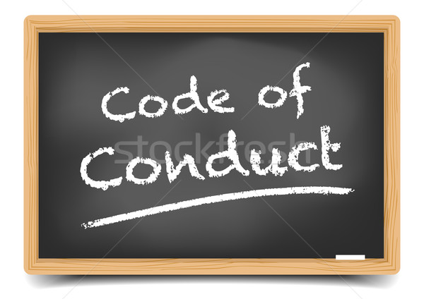 Blackboard Code of Conduct Stock photo © unkreatives