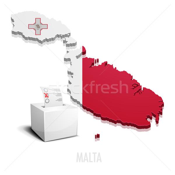ballotbox Malta Stock photo © unkreatives