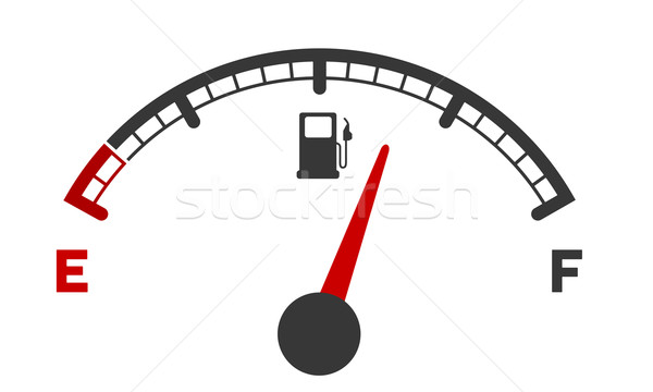 Stock photo: gas gauge