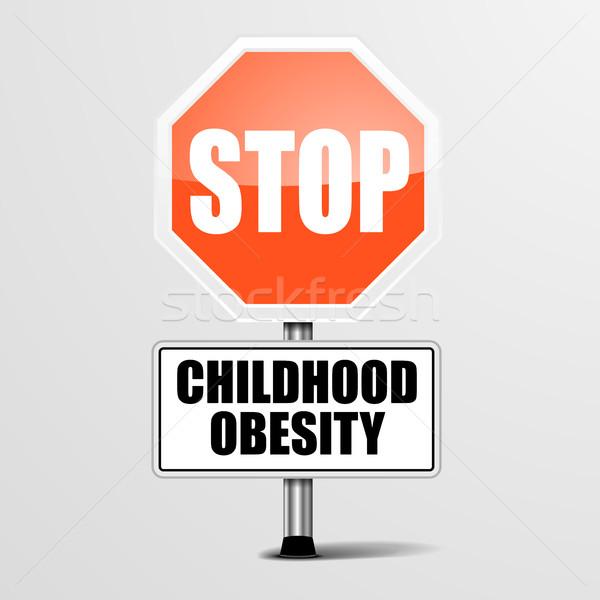 停止 幼年 肥満 詳しい 実例 赤 ストックフォト © unkreatives