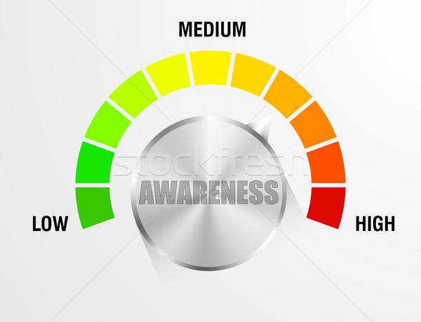Awareness Meter Gauge Stock photo © unkreatives