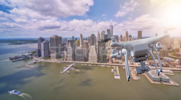 Repülés alsó New York Manhattan város robot Stock fotó © unkreatives