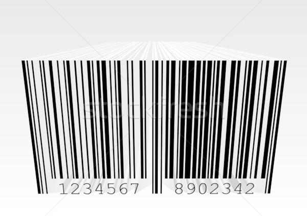3D código de barras detalhado ilustração perspectiva negócio Foto stock © unkreatives