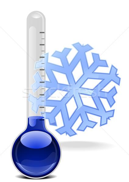 Termómetro copo de nieve ilustración salud fondo verano Foto stock © unkreatives