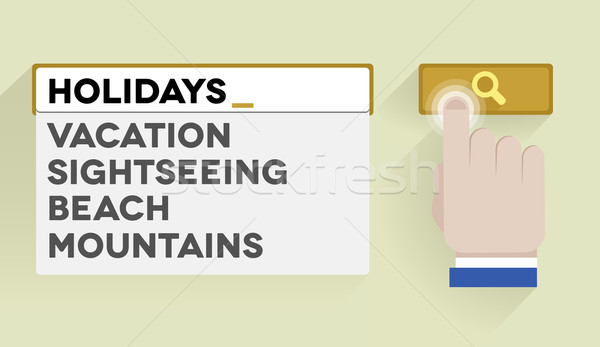 search holidays Stock photo © unkreatives