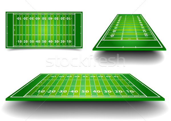 Photo stock: Terrain · de · football · détaillée · illustration · football · champs