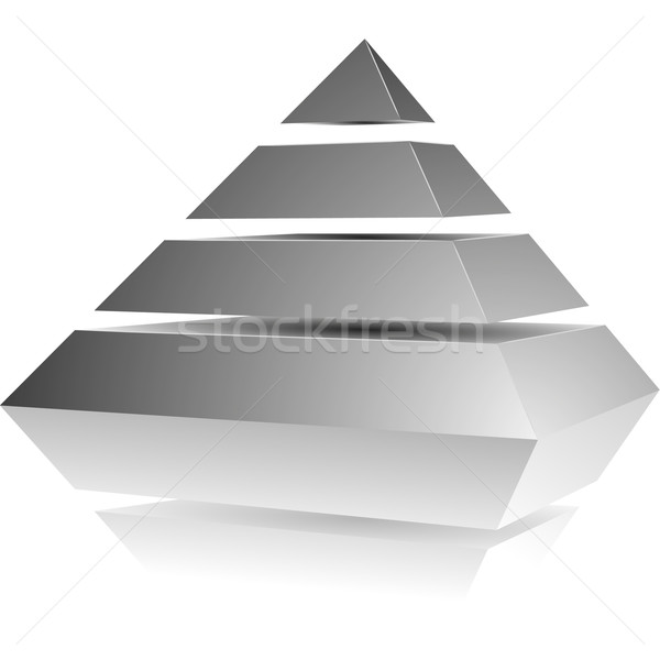 Pirâmide ilustração quatro abstrato grupo equipe Foto stock © unkreatives