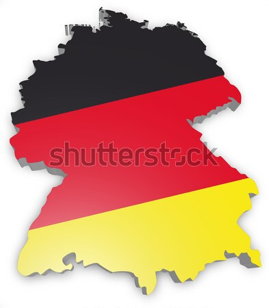 Duitsland 3D schets vlag abstract wereld Stockfoto © unkreatives