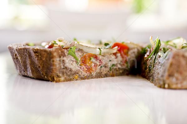 Rauw voedsel shot vermist plakje gezondheid Stockfoto © unkreatives